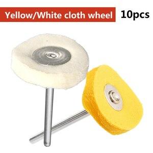 Image 3 - Polieren Rad Polieren Pad Pinsel Set 10 teile/satz Griff schmuck polieren tuch rad für Dremel Zubehör