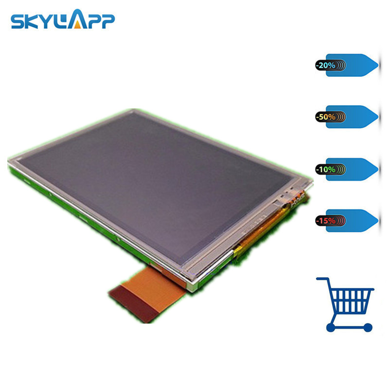 Skylarpu 3.5 inch LCD Screen for NL4864HL11-01B NL4864HL11-02A display screen panel with Touch screen digitizer Free shipping