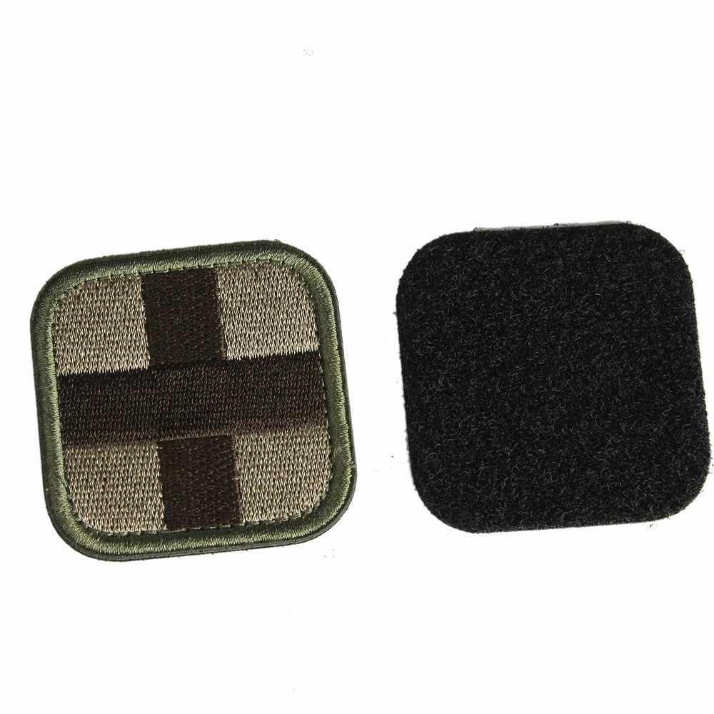 Remendo médico remendo médico com magia mochila adesivo tecido moral do exército primeiros socorros de emergência pano cruz emblema remendo médico militar