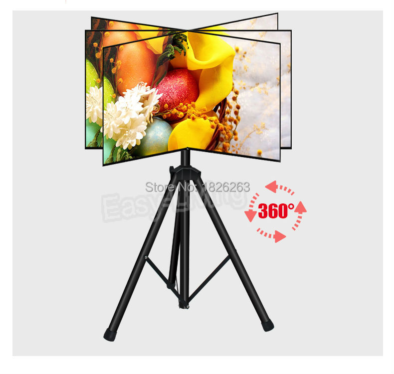 360 Degree Swivel 32~55 inch TV Mount Tripod Stand Max.VESA 400*400mm Loading 50kgs Tilt Height Adjustable TV Floor Stand