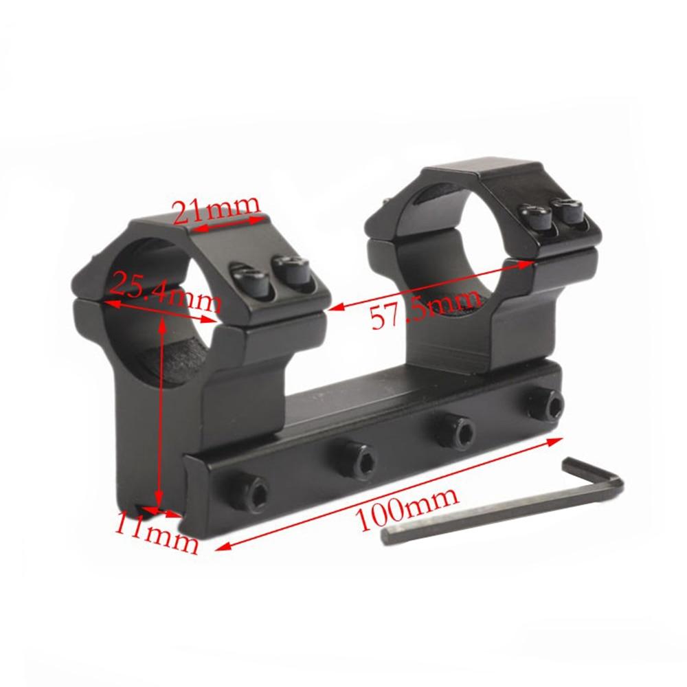One ชิ้นโปรไฟล์คู่แหวนโลหะผสมปืนไรเฟิล Mounts 30/25.4mm 11mm Dovetail RAIL caza ล่าสัตว์อุปกรณ์เสริม-ใน ฐานยึดกล้องส่องทางไกลและอุปกรณ์เสริม จาก กีฬาและนันทนาการ บน title=