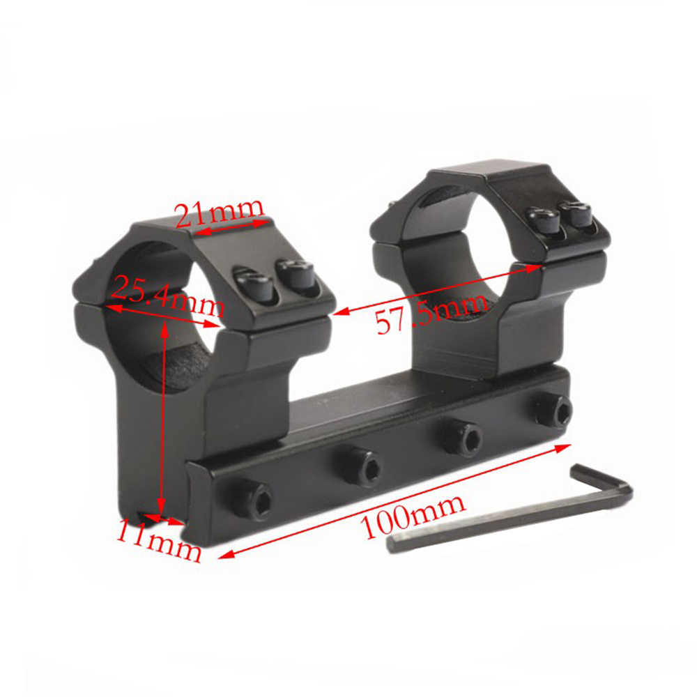 One Piece High Profile Double Ring Alloy Rifle Scope Mount Rings Mounts 30 /25.4 mm 11mm Dovetail Rail Caza Hunting Accessories(China)