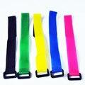 20 unids/lote 20*270mm Velcro Lipo Correa Reutilizable Cable Tie Wrap