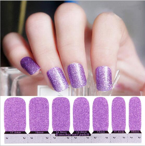 nail polish sticker solid colour