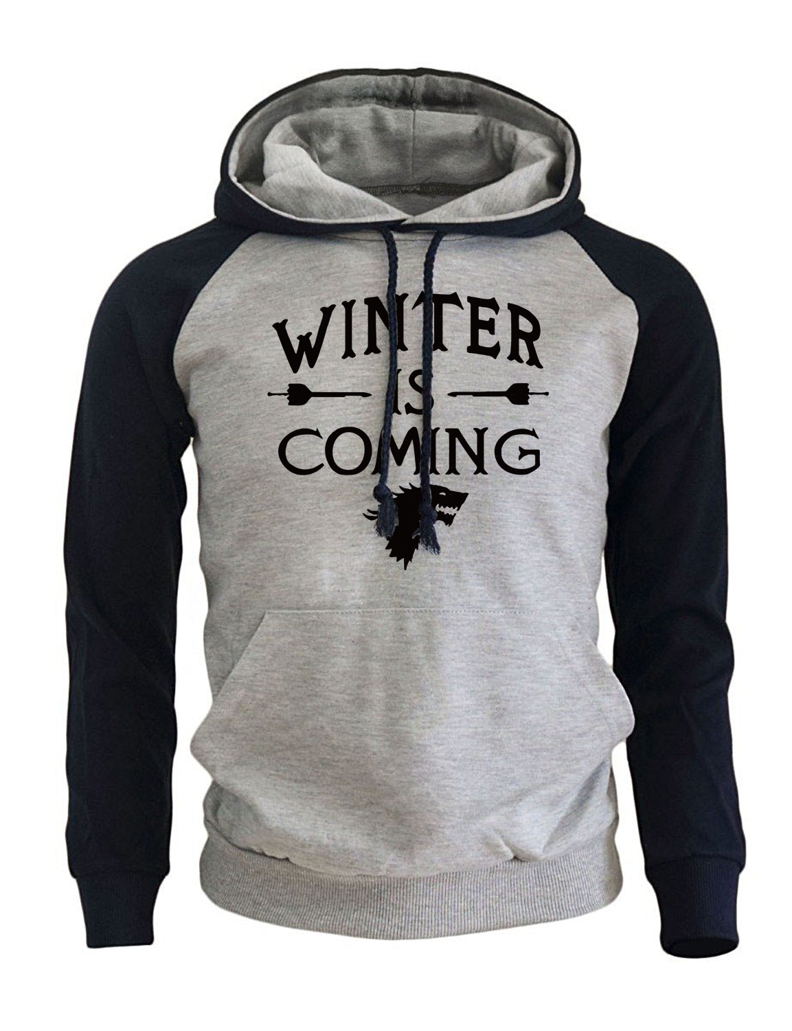 Game Of Thrones Fashion Streetwear Hoodies 2018 Autumn New Arrival Winter Fleece Raglan Sweatshirts Hoody Men Pullovers Brand