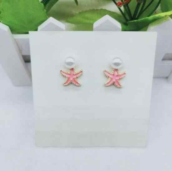 E 1081 de moda roja red temperamento oído perla joyería de estrella de mar pendientes mujer multicolor pendientes nueva mujer accesorios de la joyería
