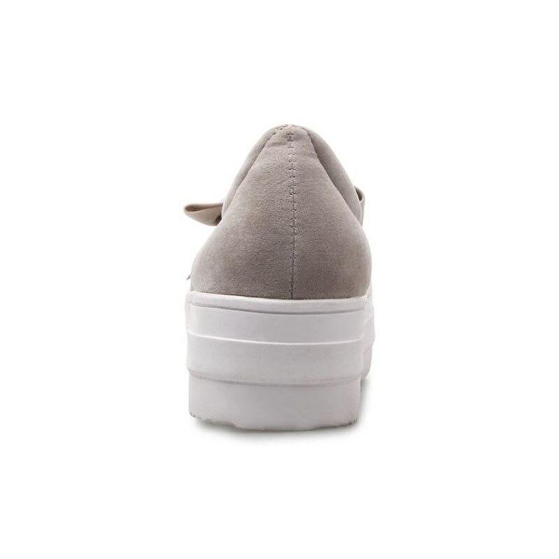 noir Bout Nubuck Chaussures Femmes Vacances Lebaluka 31 Doux Printemps Taille 2019 Casual Rond Beige Appartements gris Bowknot 43 Mode qT1AwxvX