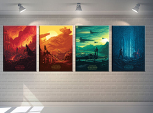 4P Star Wars movie poster Modern pop elements wall HD canvas printing art Giclee home decoration murals no frame
