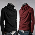 Mens Autumn Winter Sweaters Pullovers Men Solid Sweater Male Outerwear Jumper Blusa Masculina Turtleneck Sweaters M-XXL MQ389