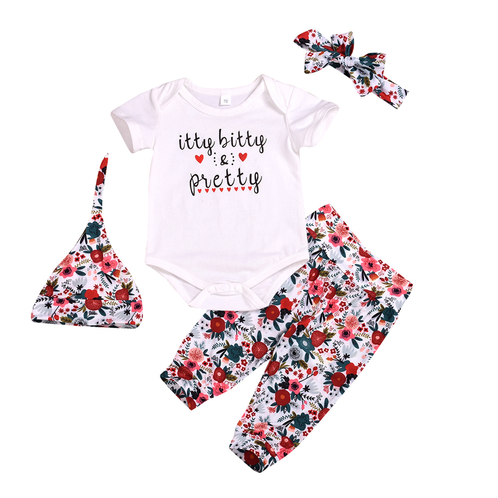Summer Newborn Baby Boys Kids Girls Romper Bodysuit Jumpsuit Clothes Outfits Set