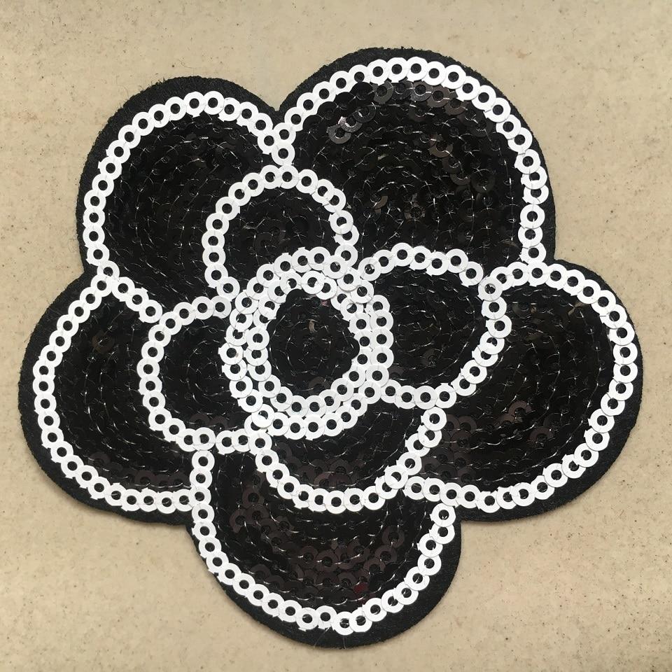10pcs Lot Sequins Flower Patch Iron On Embroidery Clothes Patches Diy Garment Motifs Sequin Fabric Appliques New Hot Deal Fb0e6 Cicig