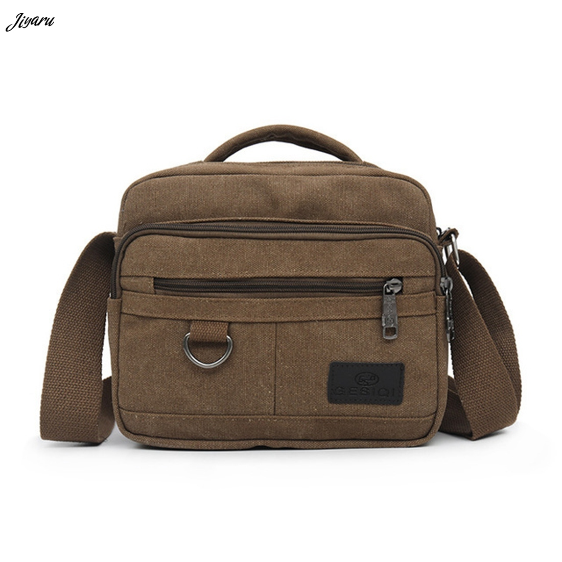 Men Handbags Canvas-Bag Messenger-Bags Multifunction Solid-Zipper Casual Hot-Selling