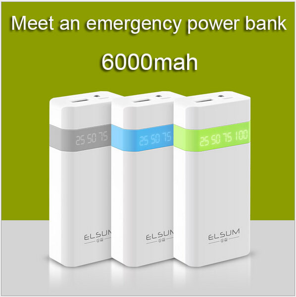 Small-scale power bank 6000mah battery charger Portable Charger Cell Phone Charger external battery for mobile phone