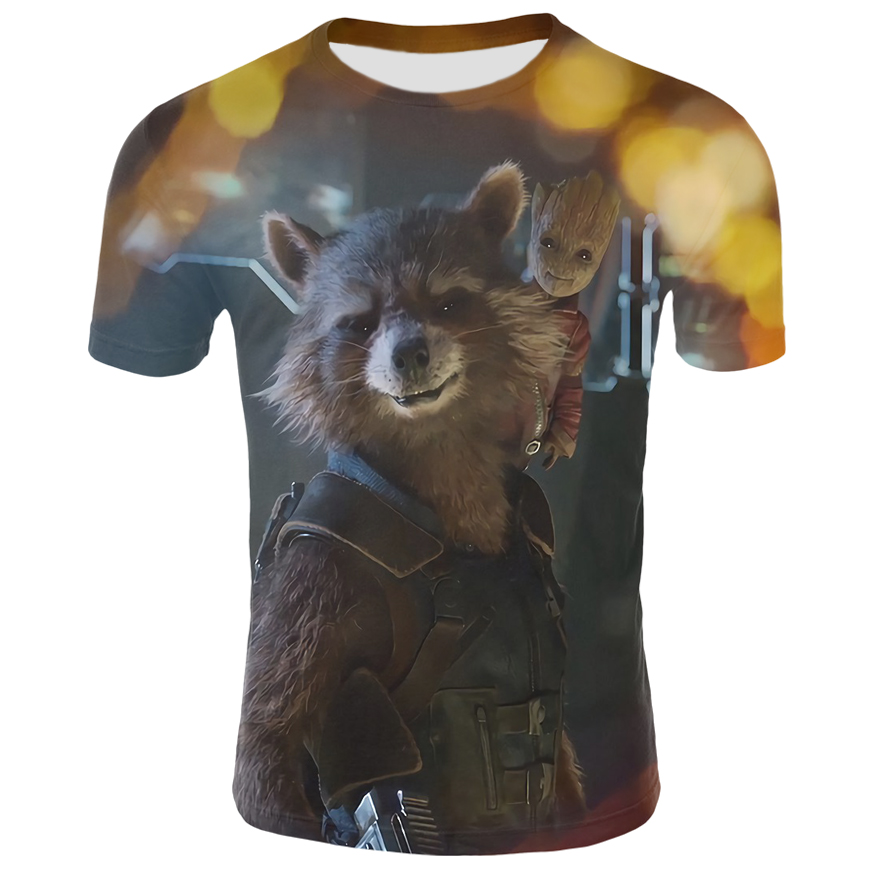 2018 New harajuku 3D groot t shirt men boy girl hip hop streetwear t-shirt Casual Fashion tshirt 6XL Size top tees short sleeves