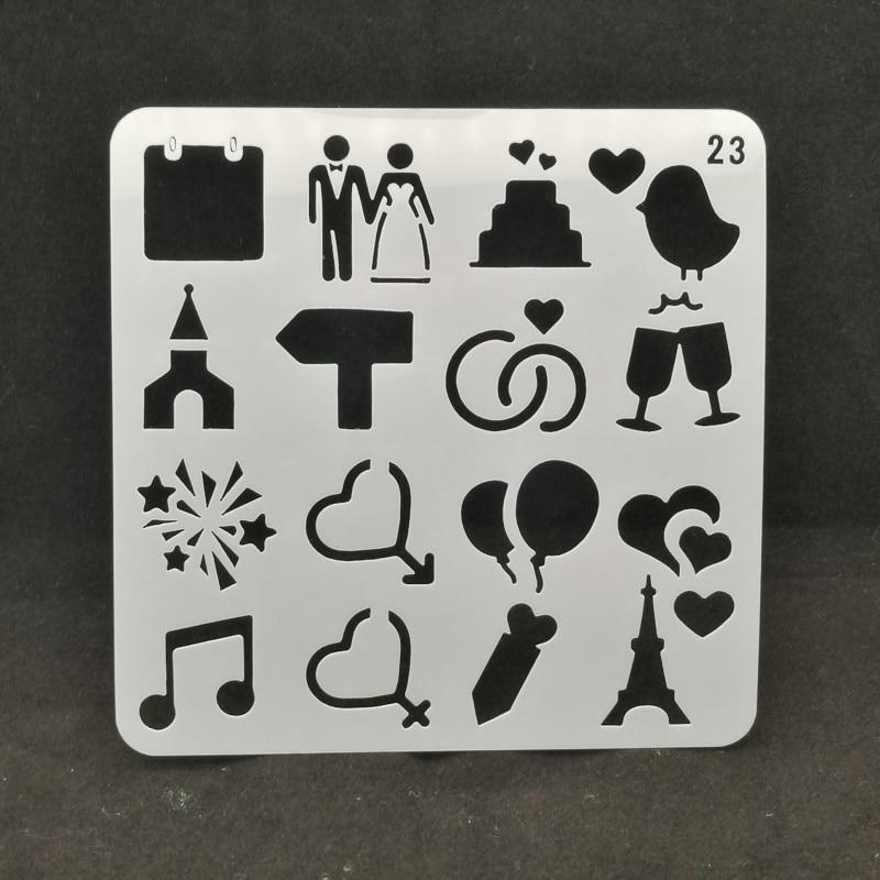 Marry Layering Stencils Drawing Color Spray Stencil DIY Scrapbook Photo Album Decorative Embossing DIY Card Crafts