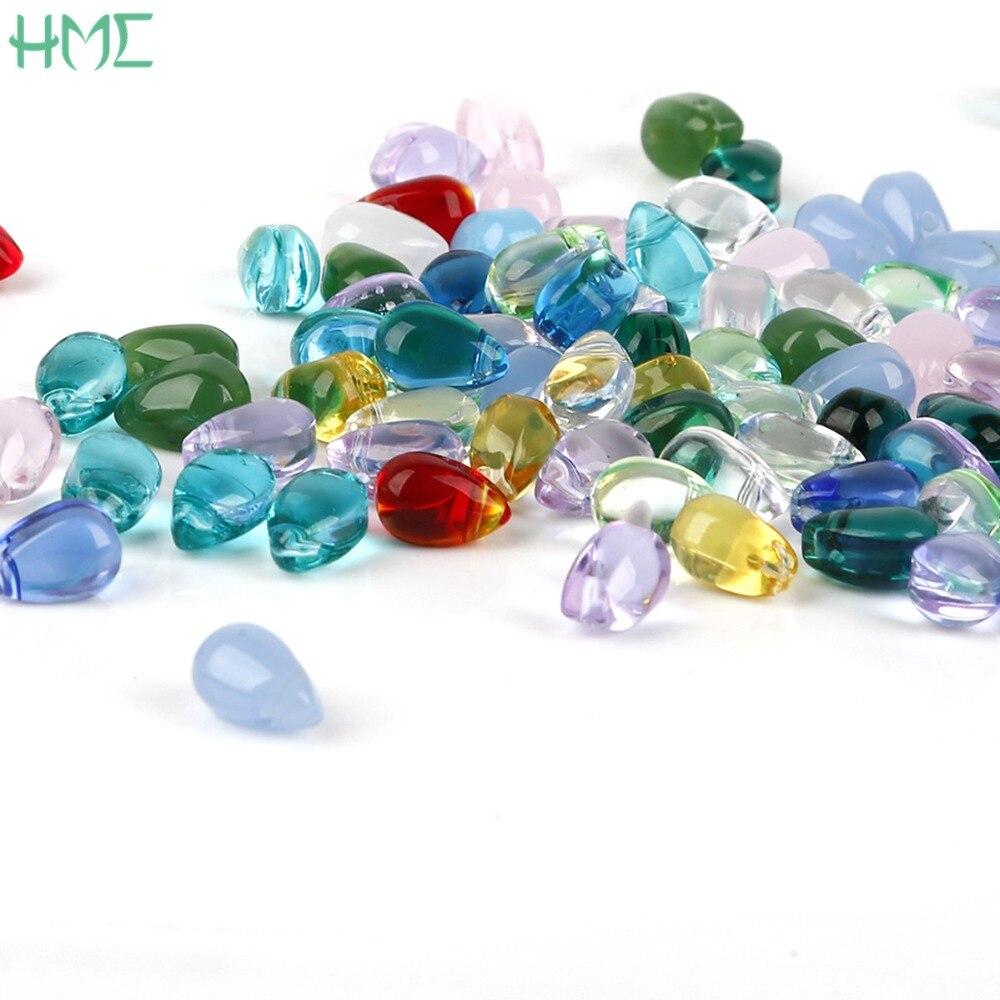 Новое поступление 5 шт.-9 х 6 мм Чешский Teardrop Water стеклянные капли бисер DIY очарование Цепочки и ожерелья серьги для изготовления ювелирных изделий аксессуары