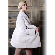 High Quality Winter Faux Fur Coat Long Sleeve Fur Overcoat Mandarin Collar Long Coats Slim Abrigos Mujer Plus Size:S-XXXL