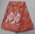 Новейшая африканская кружевная ткань с вышивкой  высокое качество  французский кружевной бисер  дешевая нигерийская чистая фатиновая круж...