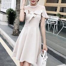 Women Dress Elegant Party Plus Size Office Lady Lace Dot Black Dresses Woman Night Vestidos Verano 2018 Sexy