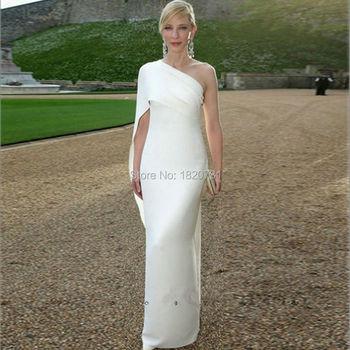 2020 White Mermaid New Arrival Summer Long Evening Dress One-Shoulder Party Gown vestido de noiva vestido de festa longo