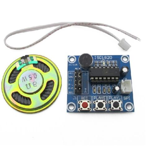 Loudspeaker+ISD1820 Sound Voice Recording Playback Module With Mic Sound Audio N
