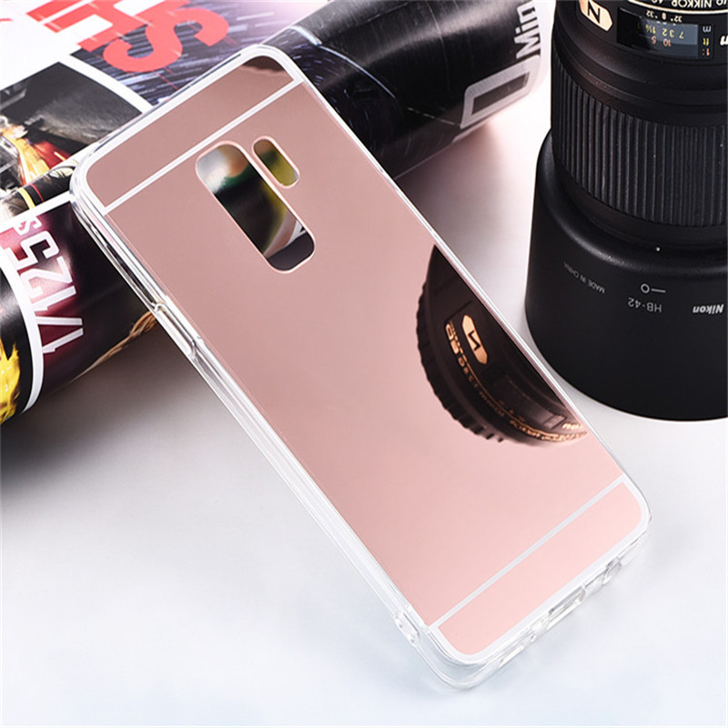 Luxury Plating Mirror TPU Frame Case For Samsung Galaxy S3 S4 S5 S6 S7 Edge S8 S9 Plus A3 A5 J2 J3 J5 2015 2016 2017 Grand Prime