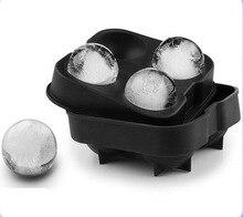 Мороженое шары изготовления форм Бар Пить Виски Сфере Большой Круглый мяч Льда Кирпич Куб Чайник Лоток Прессформы Льда Лоток Мороженого чайник