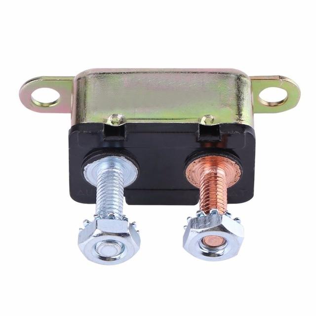 50A Metal Auto Automatic Reset Stud Type Circuit Breaker for Car Truck RV Car Circuit Breaker