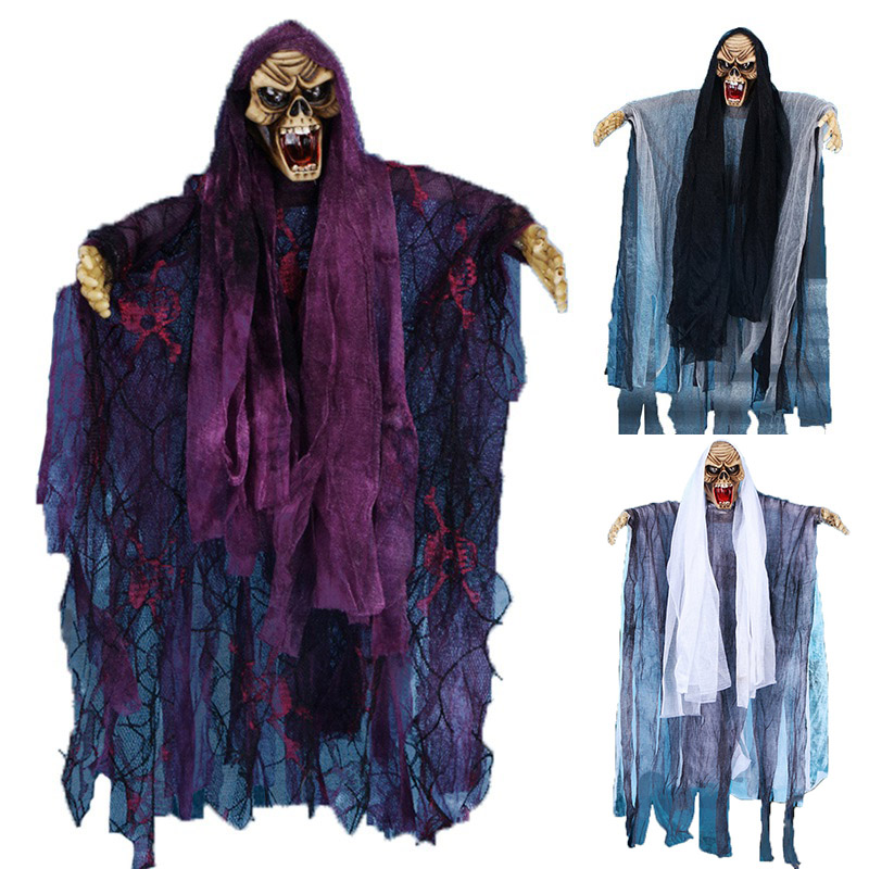 best sale halloween props creepy hanging reaper voice ghost spoof tricky scary festival supplies bar haunted - Halloween Props For Sale