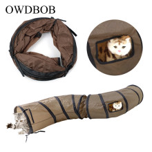 OWDBOB S Pet Cat Tunnel Funny Play Foldable Dog Toy Bulk Kitten Puppy Rabbit Supplies