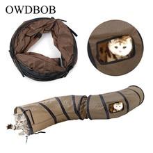 OWDBOB S Pet Cat Tunnel Funny Play Foldable Dog Toy Bulk Kitten Puppy Rabbit Supplies
