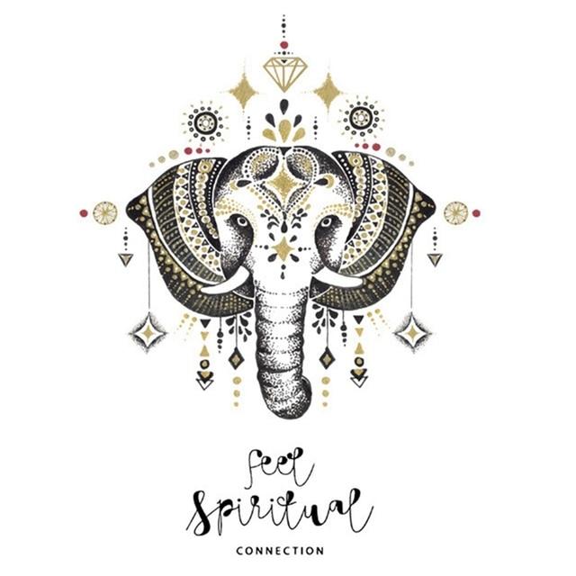 Mandala Elephant Wall Sticker