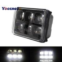 New 9D led Offroad Hi Low Beam 57W Crystal LED Headlight Led Driving Light 4x6 Inch Square Headlamp 4x6 work light