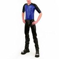 Латекс колготки брюки с рубашка латексные Парни Брюки 0.4 мм толщина