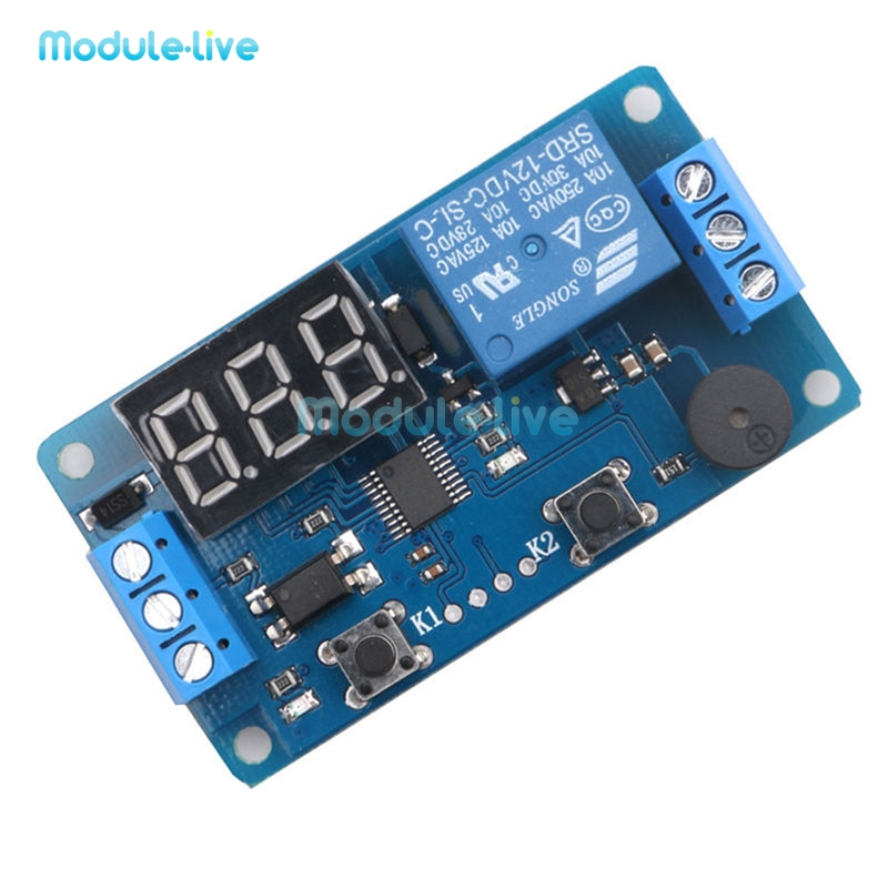 Digital LED Display Time Delay Relay Module Board DC 12V Control Programmable Timer Switch Trigger PLC Automation Car Buzzer module xilinx xc3s500e spartan 3e fpga development evaluation board lcd1602 lcd12864 12 module open3s500e package b