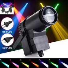 где купить ICOCO 30W DMX RGBW LED Stage Light Pinspot Light Beam Spotlight 6CH Professional DISCO KTV DJ Stage Lighting Effect AC110-240V дешево