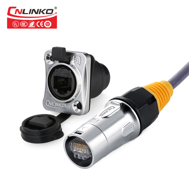 US $9 84 20% OFF|Cnlinko Hot Selling Product RJ45 Panel Mount Connector for  Led Display Screen Armarium Marine Equipment-in Connectors from Lights &