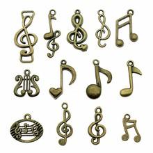 15pcs lot Charms Musical Note Antique Bronze Color Musical Note Charms Jewelry Findings Diy Musical Note Charms Wholesale cheap Irelia Zinc Alloy Fashion Metal Vintage
