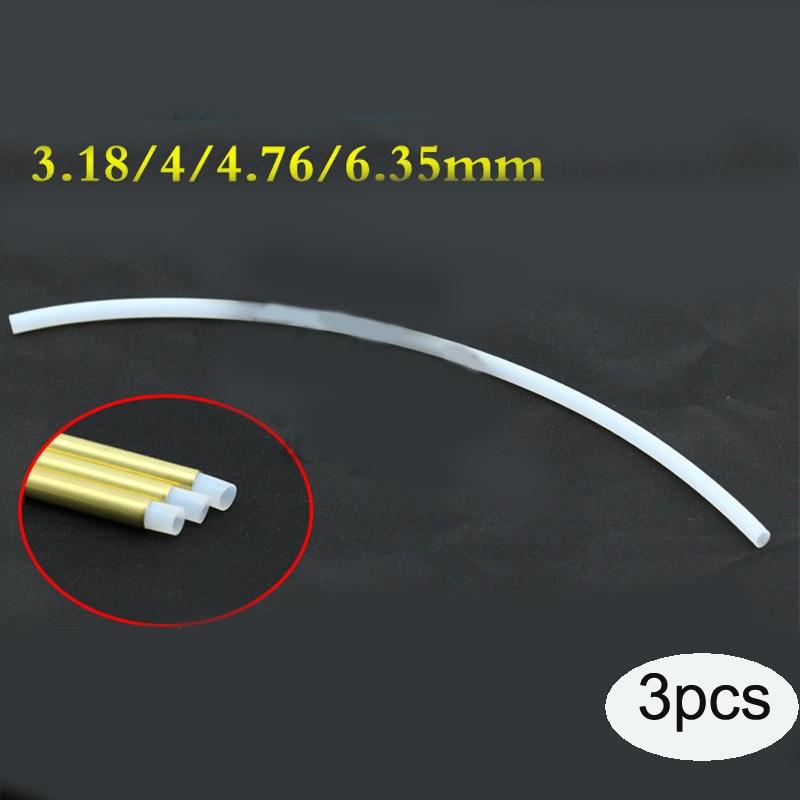 3PCS PTFE Tube Length 300mm Soft Shaft Sleeve Plastic Pipe Used For RC Boat Model Diameter 3.18/4/4.76/6.35mm Flexible Shaft
