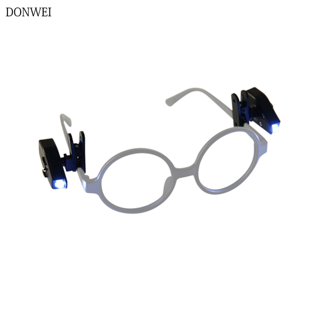 c7652c058c0 2pcs Mini Flexible LED Eyeglass Clip Book Reading Lights For Eyeglass and  Tools Portable Adjustable Night Light Book lamp