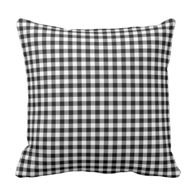 Throw Pillow Cover Colorful Check Black And White Gingham Checkered Decorative Pillow Case Home Decor Square 18 X 18 Inch Pillo Cushion Cover Aliexpress