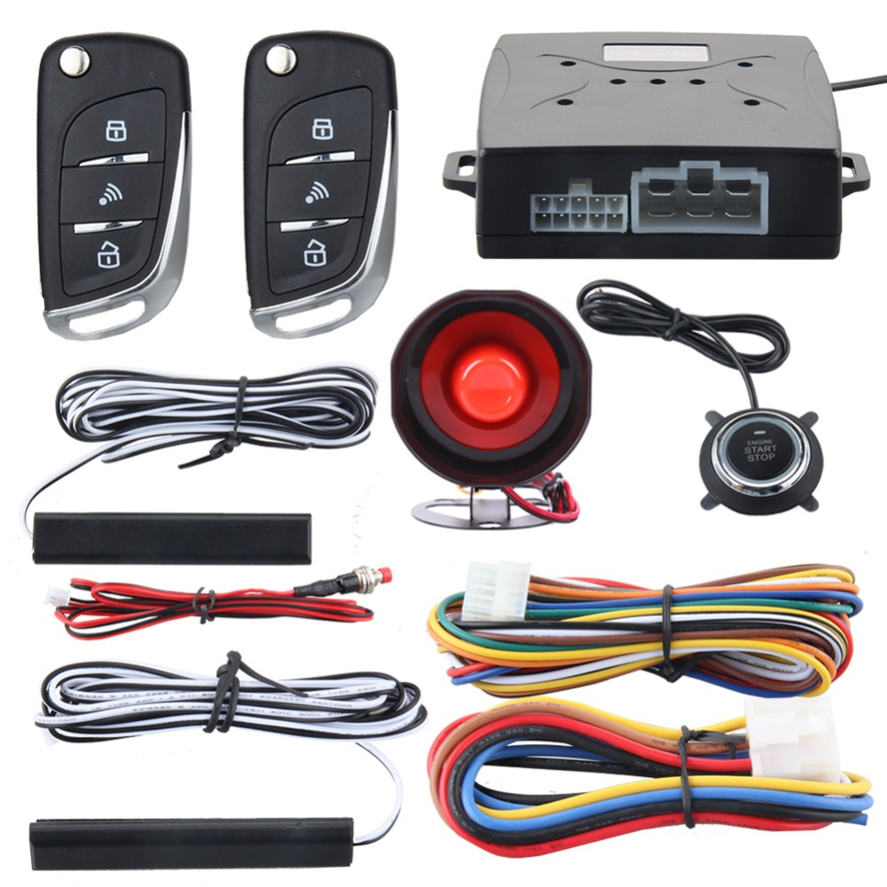 EASYGUARD Car security alarm system with PKE passive keyless entry remote lock remote engine start stop