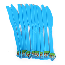 Blue Plastic Knives