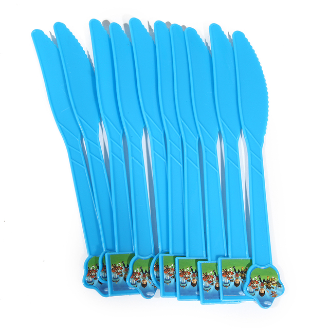 Blue Plastic Knives