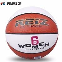 REIZ Officiële Maat 6 Basketbal slijtvaste PU Leer Basketbal antislip Professionele Outdoor Bal Met VROUWEN Letters