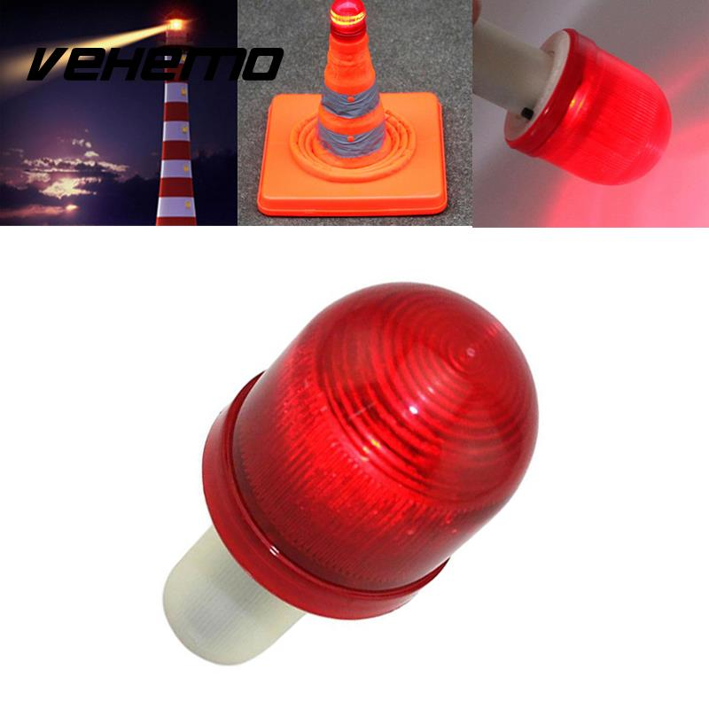 Vehemo LED Road Hazard Skip Light Flashing Scaffolding Traffic Safety Red+White traffic signal light module 200mm diameter 8 inch yellow road safety light dc 12 v cheap led cluster