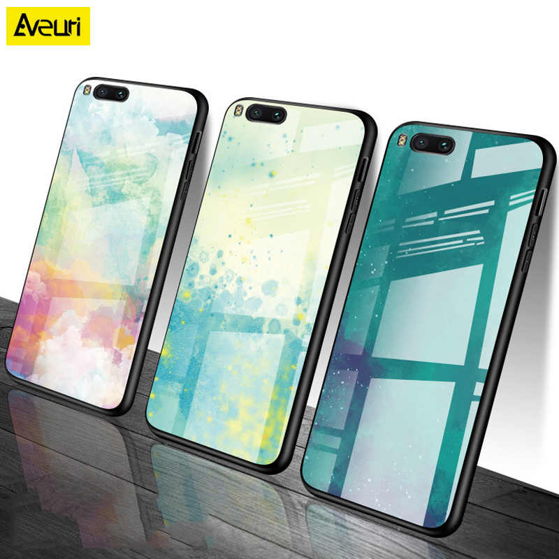 Luxury For Honor 8C Glass Back Case For Huawei Honor 7X 8X Play Colorful Gradient Cover Cases For Huawei Honor 8 9 10 Lite Coque