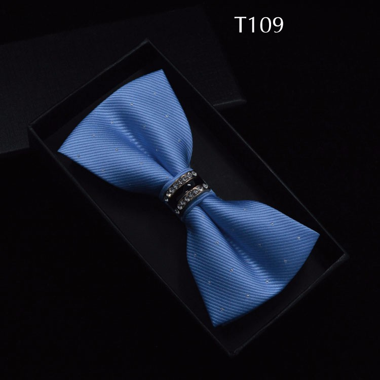 Tuxedo Metal Crystal Wedding Bow Tie Men Women Butterfly Knot Cravat Black Purple Blue Jujube Red Groom Party Banquet Meet Club 8