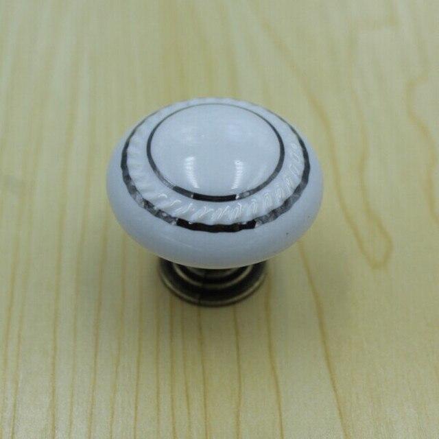 35mm Weißen Keramik Küchenschrank Knöpfe Bronze Schublade Knöpfe ...