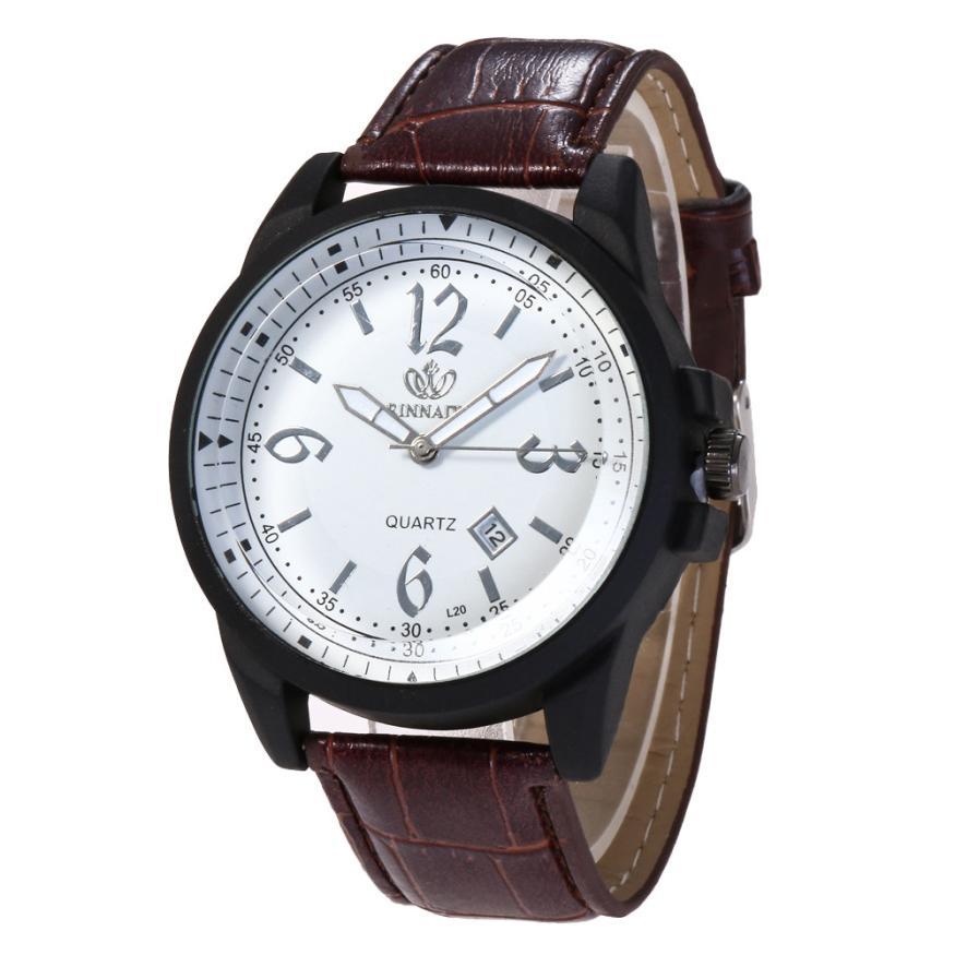 Women Fashion Leather Band Analog Quartz Round Wrist Watch Watches men watch digital mens watches top brand luxury leather strap